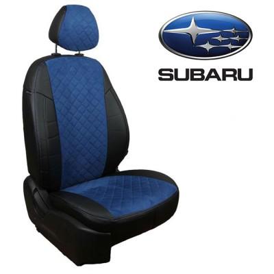 Чехлы на сиденья из алькантары Ромб для Subaru