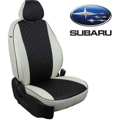 Чехлы на сиденья из экокожи Ромб для Subaru