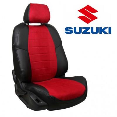 Чехлы на сиденья из алькантары для Suzuki