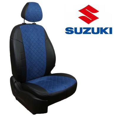 Чехлы на сиденья из алькантары Ромб для Suzuki