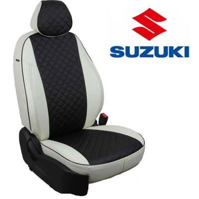 Чехлы на сиденья из экокожи Ромб для Suzuki