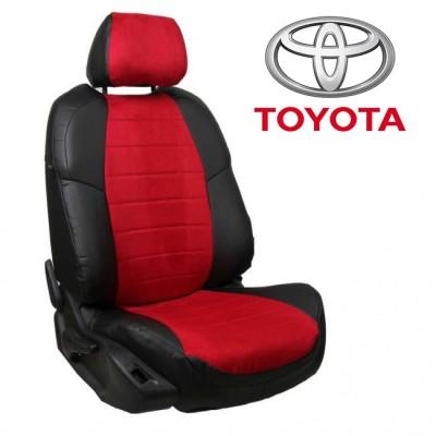 Чехлы на сиденья из алькантары для Toyota