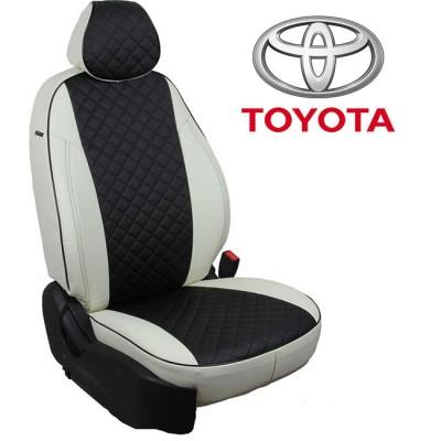 Чехлы на сиденья из экокожи Ромб для Toyota
