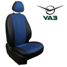 Авточехлы для УАЗ - Алькантара Ромб
