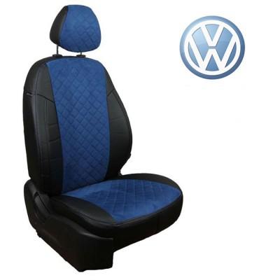 Чехлы на сиденья из алькантары Ромб для Volkswagen