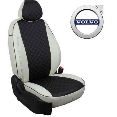 Чехлы на сиденья из экокожи Ромб для Volvo